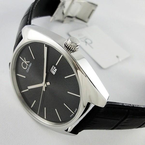 CK 時計 カルバンクライン スイス製 おしゃれなミニマル シンプル クロコ型押しブラックレザー 無料特典付き! あすつく 腕時計|nopple|06