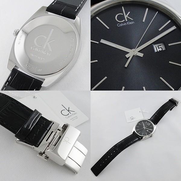 CK 時計 カルバンクライン スイス製 おしゃれなミニマル シンプル クロコ型押しブラックレザー 無料特典付き! あすつく 腕時計|nopple|07