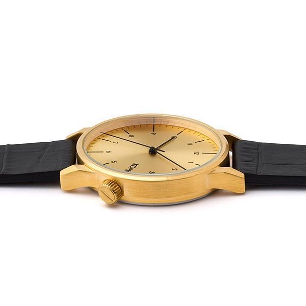コモノ ユニセックス WINSTON REGAL ブラック クロコ レザー KOM-W2550 あすつく 腕時計