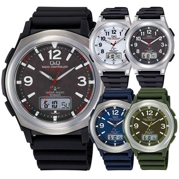電波ソーラー腕時計シチズンQ&Qキューアンドキュー見やすい国内正規
