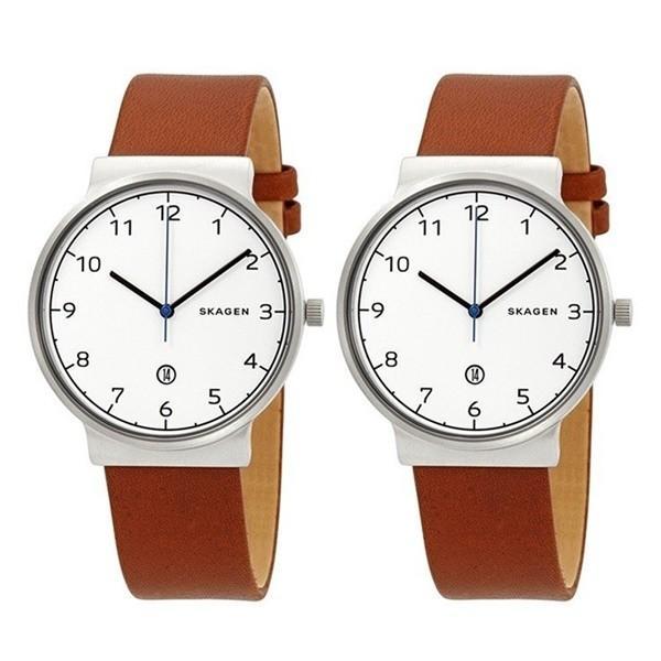 【ペアBOXつき】SKAGEN スカーゲン ペアウォッチ メンズ レディース おそろい ペア おなじ時計 ナチュラル レザー SKW6433SKW6433 あすつく 腕時計|nopple