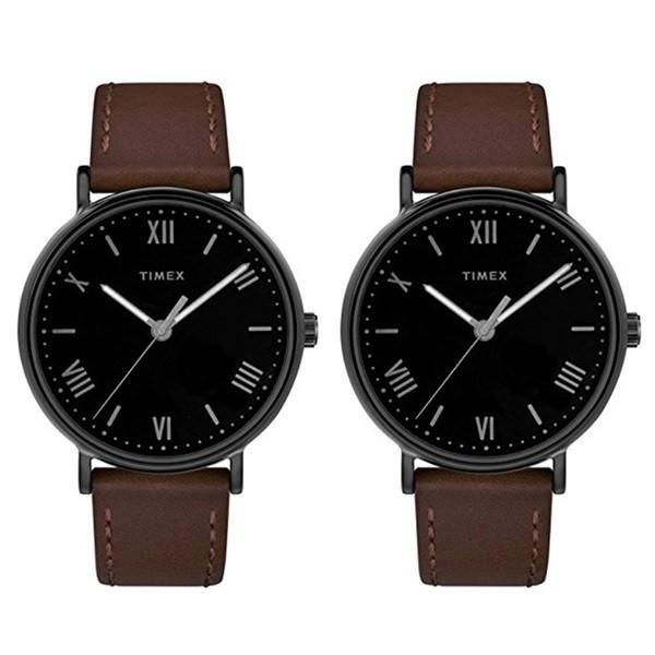 時計収納BOX付き!保証も安心!大人のペアウォッチ 贈り物に 落ち着いたカラー タイメックス あすつく 腕時計