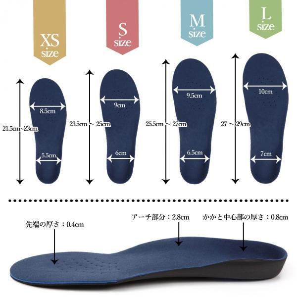 インソール 人体工学に基づいた 3D アーチサポート インソール なかじき 中敷き 疲れない 疲れにくい 靴 レディース メンズ 偏平足 送料無料 [M便 1/1] norphonline 06
