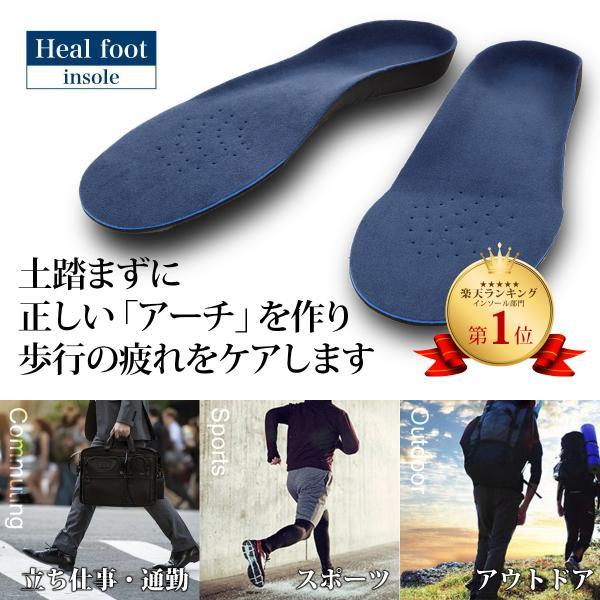 インソール 人体工学に基づいた 3D アーチサポート インソール なかじき 中敷き 疲れない 疲れにくい 靴 レディース メンズ 偏平足 送料無料 [M便 1/1] norphonline 10