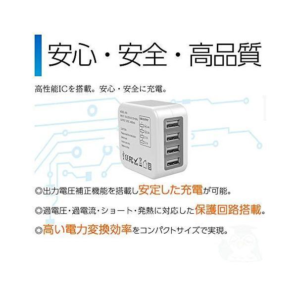 海外旅行用USB充電器 ACアダプター 4ポート折畳式 変換プラグ 多機能充電器 150カ国以上通用(米国 EU 英国 AU) iPhone,Andr|north-c-shop|04