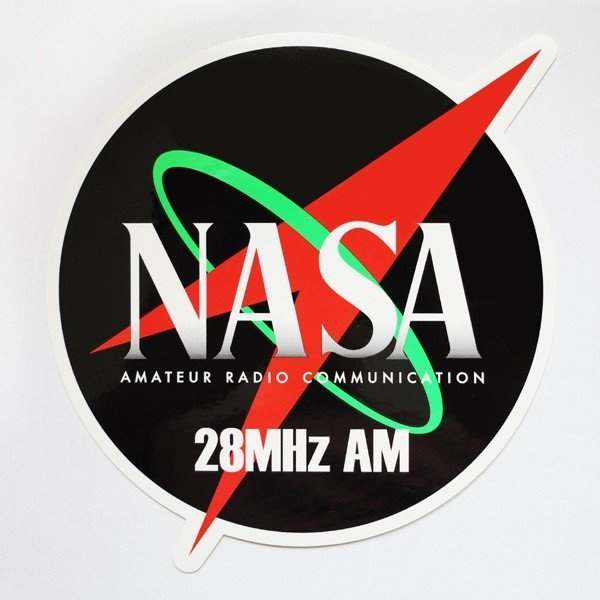 NASA通信純正 28MHz AM ステッカー|northlandcom