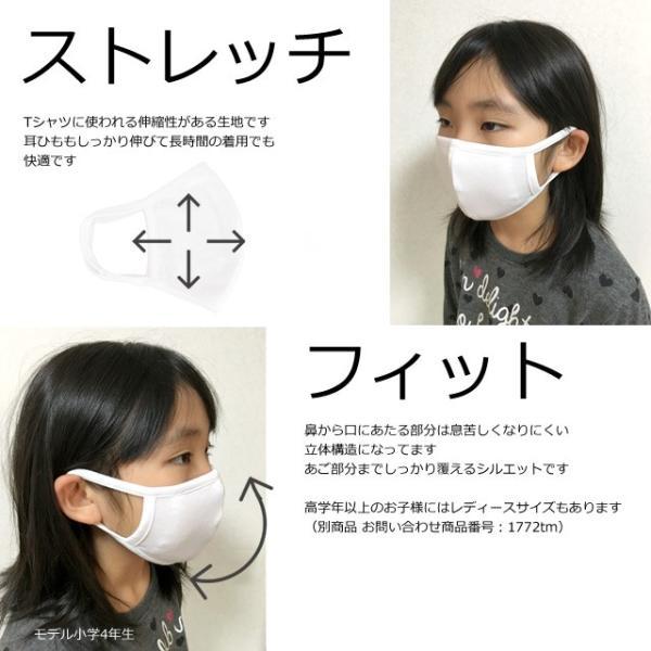 洗える 布マスク 2枚入り 給食マスク 給食エプロン ファッションマスク 洗って繰り返し使える 不織布付き 子供 マスク|novice-sf|03
