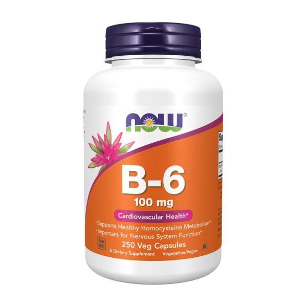ナウフーズ ビタミン B-6 100mg 250錠 NOW FOODS  Vitamin B-6 100mg 250CAPS|nowfoods