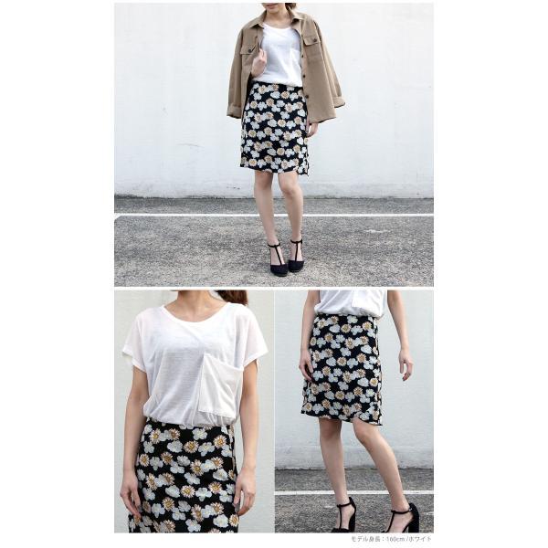 韓国 ファッション Tシャツ レディース おしゃれ 半袖 ビッグポケットTシャツ|nowistyle-y|14