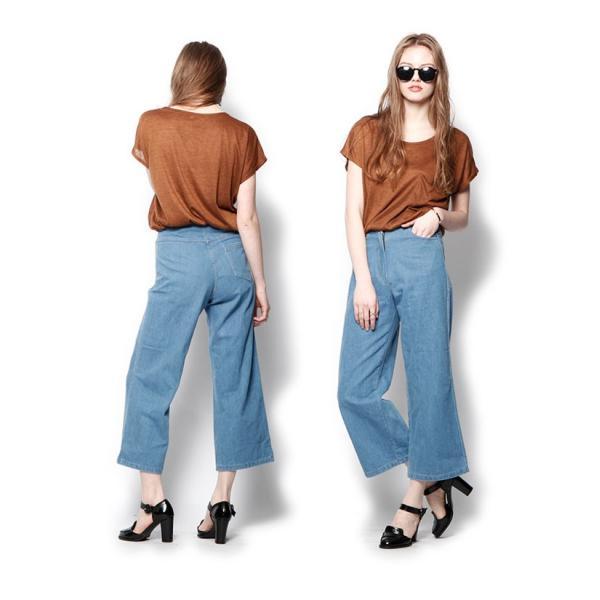 韓国 ファッション Tシャツ レディース おしゃれ 半袖 ビッグポケットTシャツ|nowistyle-y|05