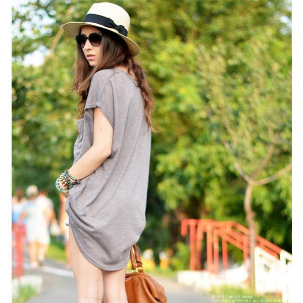 韓国 ファッション Tシャツ レディース おしゃれ 半袖 ビッグポケットTシャツ|nowistyle-y|06