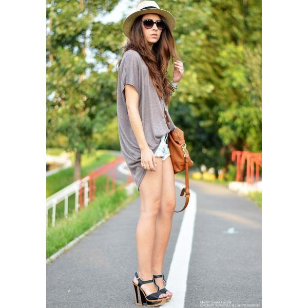 韓国 ファッション Tシャツ レディース おしゃれ 半袖 ビッグポケットTシャツ|nowistyle-y|07