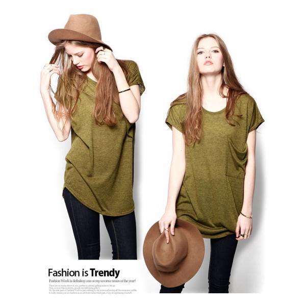 韓国 ファッション Tシャツ レディース おしゃれ 半袖 ビッグポケットTシャツ|nowistyle-y|08