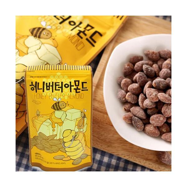メール便 送料無料 お試しセット わさび+ハニーバターアーモンド 35g(小)×6個 2種各3個 食べ比べ/お買い得/わさび/アーモンド/韓国人気/Honey Butter|nowmall|05