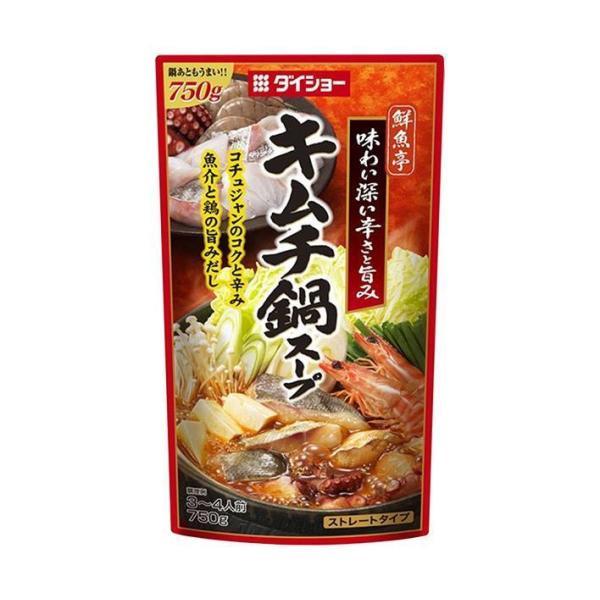 送料無料 ダイショー 鮮魚亭 キムチ鍋スープ 750g×10袋入