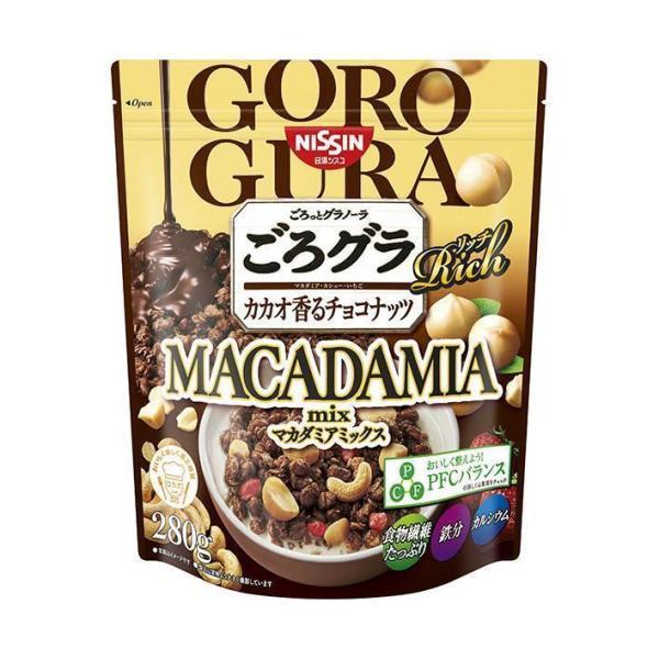 送料無料 日清シスコ ごろっとグラノーラリッチ カカオ香るチョコナッツマカダミアmix 300g×6袋入