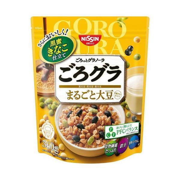 送料無料 【2ケースセット】日清シスコ ごろっとグラノーラ まるごと大豆 400g×6袋入×(2ケース)
