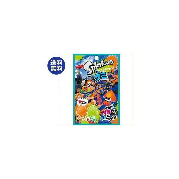 送料無料 ノーベル製菓 スプラトゥーングミ オレンジソーダ&メロンソーダ 45g×6袋入