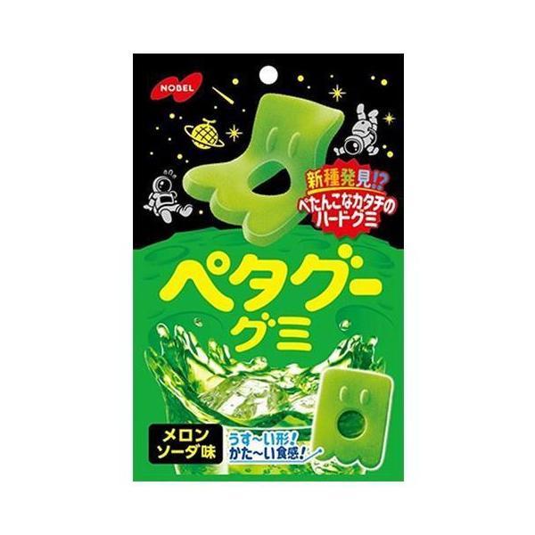 送料無料 ノーベル製菓 ペタグーグミ メロンソーダ 50g×6袋入