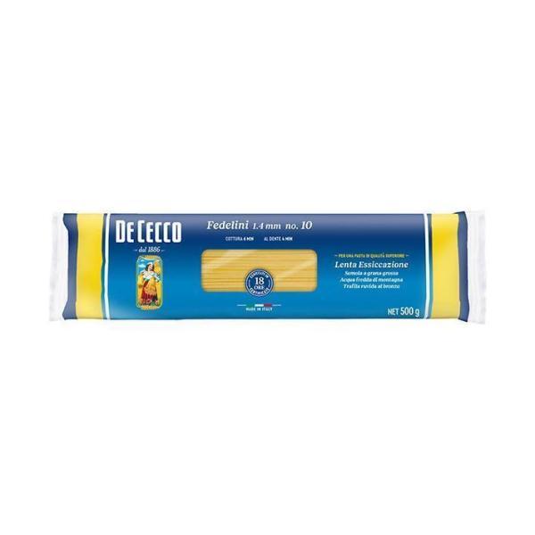 送料無料 【2ケースセット】日清フーズ ディ・チェコ No.10 フェデリーニ 500g×24袋入×(2ケース)