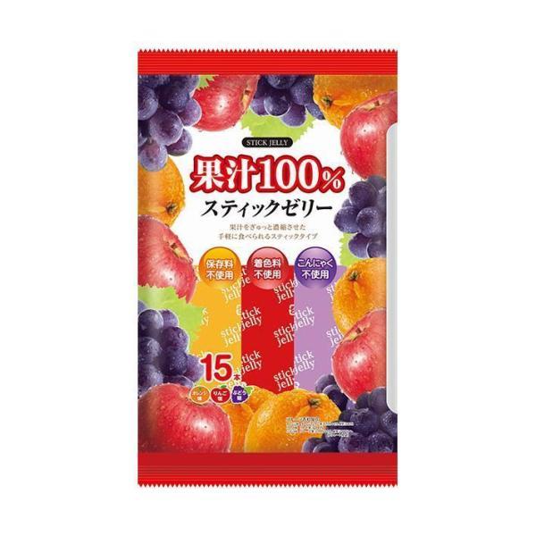 送料無料 リボン 18本果汁100% スティックゼリー 18本×12袋入