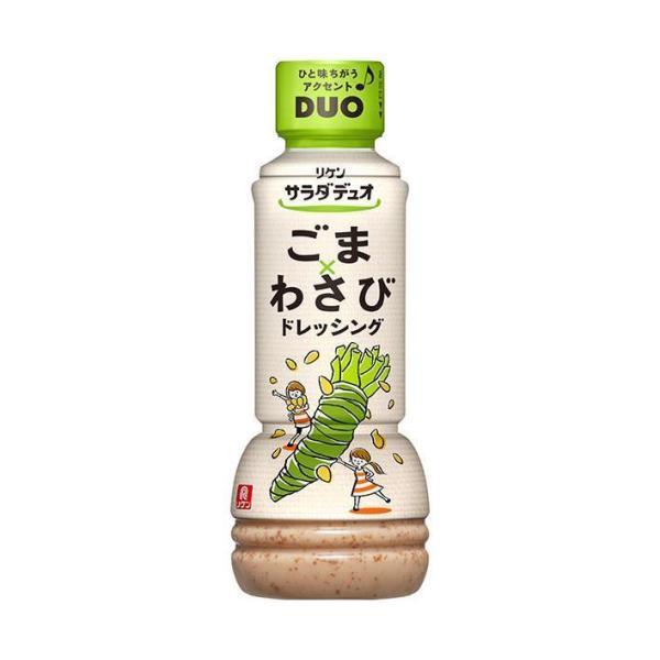 送料無料 理研ビタミン リケン サラダデュオ ごまわさびドレッシング 300mlペットボトル×12本入