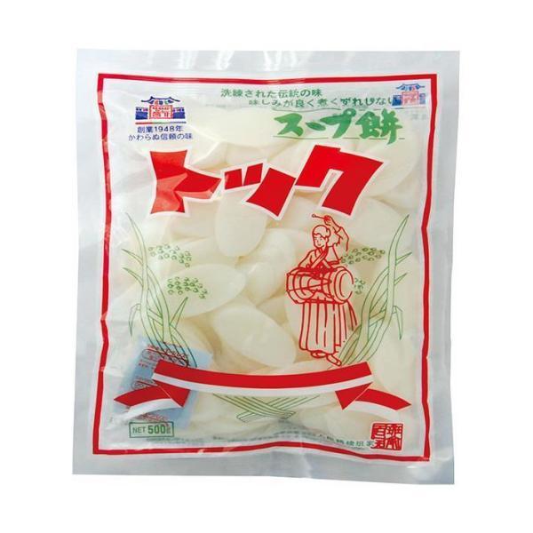 送料無料 【2ケースセット】徳山物産 トック スープ餅 500g×10袋入×(2ケース)