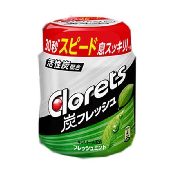 送料無料 モンデリーズ・ジャパン クロレッツ 炭フレッシュ フレッシュミントボトルR(粒ガム) 127g×6個入