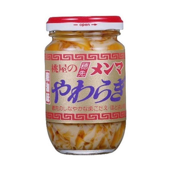 送料無料 桃屋 穂先メンマ やわらぎ (辣油味) 115g瓶×12個入