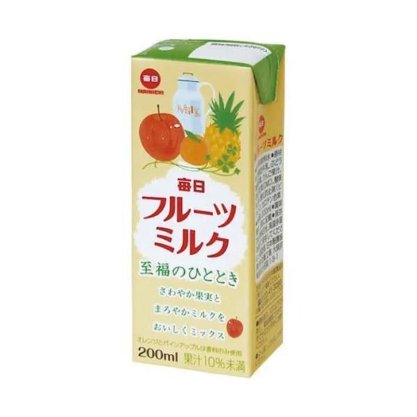 送料無料 【2ケースセット】毎日牛乳 毎日フルーツミルク 200ml紙パック×24本入×(2ケース)