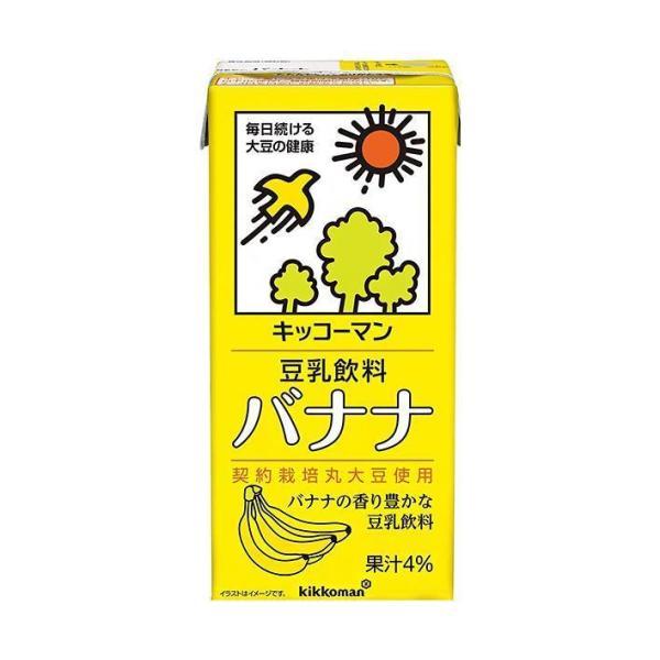 送料無料 【2ケースセット】キッコーマン 豆乳飲料 バナナ 1000ml紙パック×12(6×2)本入×(2ケース)