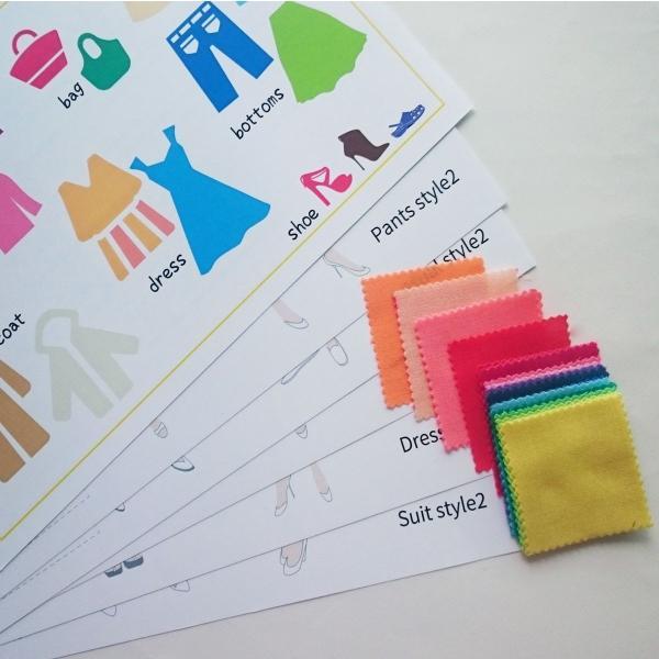 パーソナルカラー 10タイプ カラーコーディネート 練習帳 布|nrkcolorshop2