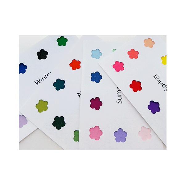 パーソナルカラー 10タイプ はがきサイズ 布見本 カラーパレット スウォッチ|nrkcolorshop2