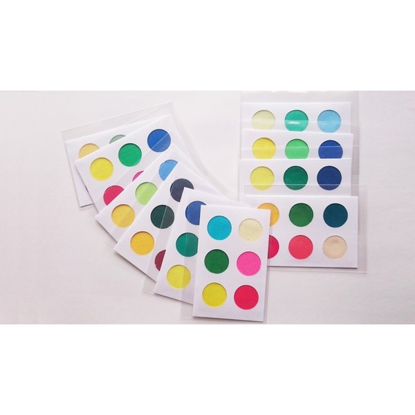 パーソナルカラー 10タイプ 黄 緑 青 赤 ピンク 定番色 カードサイズ スウォッチ 布見本 nrkcolorshop2