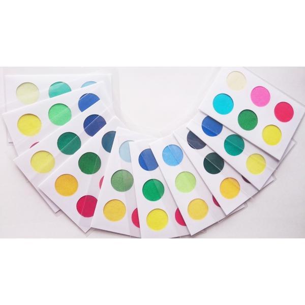 パーソナルカラー 10タイプ 黄 緑 青 赤 ピンク 定番色 カードサイズ スウォッチ 布見本 nrkcolorshop2 02