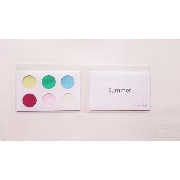 パーソナルカラー 10タイプ 黄 緑 青 赤 ピンク 定番色 カードサイズ スウォッチ 布見本 nrkcolorshop2 04