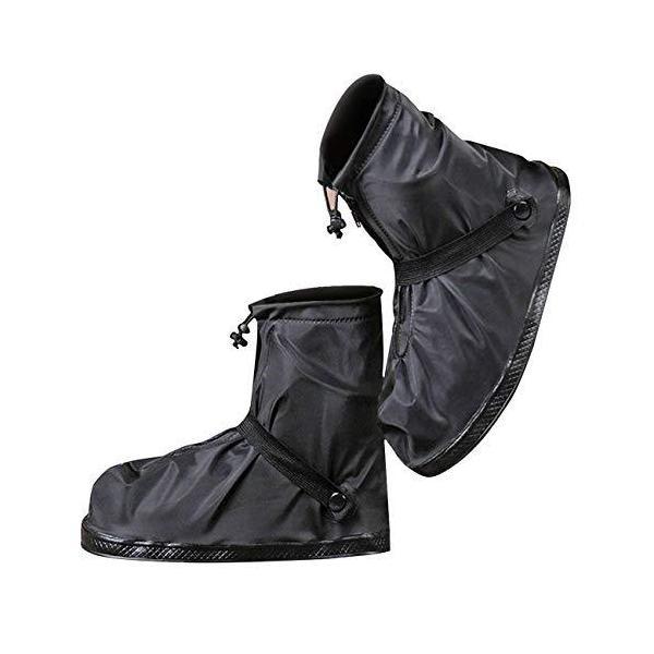 moofun  改良型シューズカバー靴カバー防水梅雨対策レインカバー軽量滑り止めコンパクト雨泥避け雨