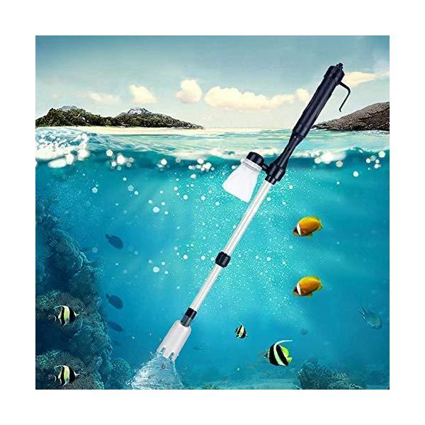 水交換ポンプ水槽清掃ポンプクリーナーポンプ水槽掃除機電動式長さ調整水替え砂掃除魚糞清掃アクアリ