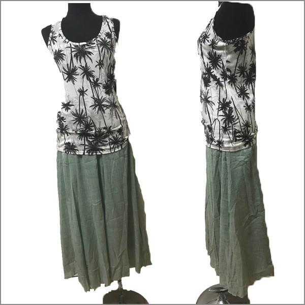 リネンロングスカート すっきりシルエット ロングスカート マキシスカート  夏 ウエストゴム レディース リネンスカート|nselect|09