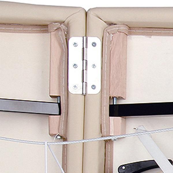 軽量 折りたたみ マッサージベッド アルミ製 有孔 チョコレート 長さ185×幅70×高さ50〜71cm マッサージべッド マッサージ用ベッド 施術べッド 治療ベッド ◆|nshop-y|11