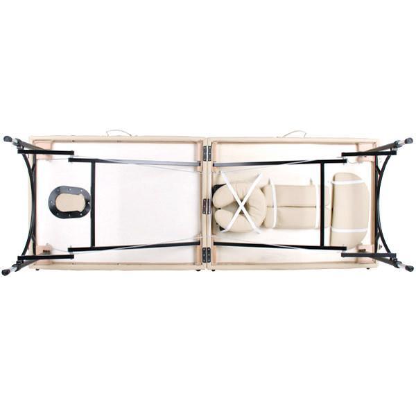 軽量 折りたたみ マッサージベッド アルミ製 有孔 チョコレート 長さ185×幅70×高さ50〜71cm マッサージべッド マッサージ用ベッド 施術べッド 治療ベッド ◆|nshop-y|10