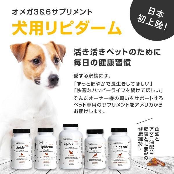 リピダーム 小型/中型犬用 60粒 サプリ ビタミン カルシウム オメガ3&6とビタミンの独自乳化処方でワンちゃんの皮ふと毛並みの健康維持をサポート|ntc-yh|03