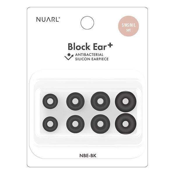 NUARL Block Ear+ 抗菌シリコンイヤーピース(S/MS/M/Lセット)|nuarl|02