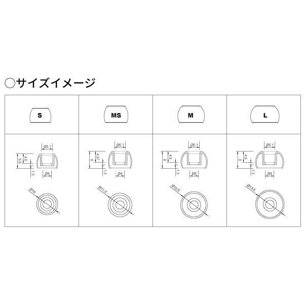 NUARL Block Ear+ 抗菌シリコンイヤーピース(S/MS/M/Lセット)|nuarl|03