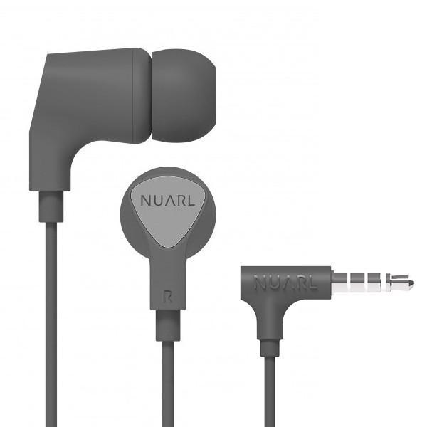 【公式ストア】NUARL NE1000 リモコンマイク付き ステレオイヤホン(グレー)ポーチ付 ※延長保証+6ヶ月付|nuarl