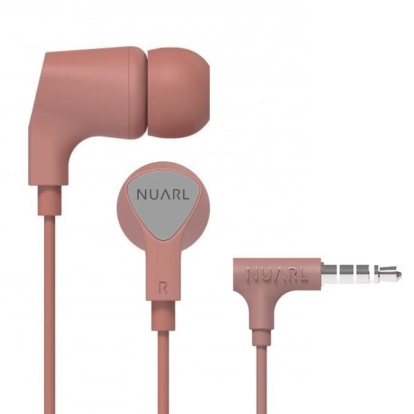 【公式ストア】NUARL NE1000 リモコンマイク付き ステレオイヤホン(ピンク)ポーチ付 ※延長保証+6ヶ月付|nuarl