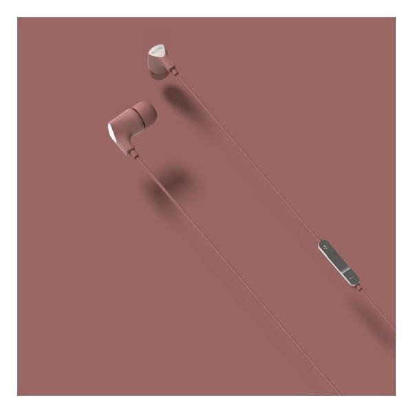 【公式ストア】NUARL NE1000 リモコンマイク付き ステレオイヤホン(ピンク)ポーチ付 ※延長保証+6ヶ月付|nuarl|02