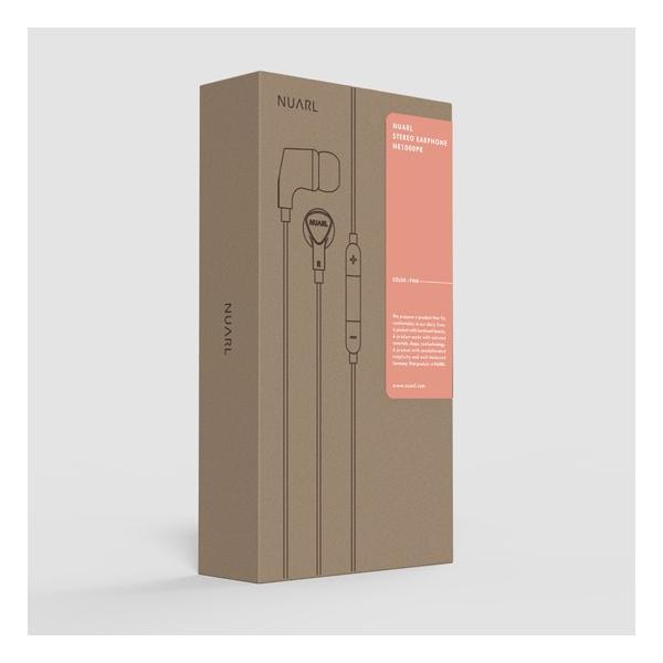 【公式ストア】NUARL NE1000 リモコンマイク付き ステレオイヤホン(ピンク)ポーチ付 ※延長保証+6ヶ月付|nuarl|05