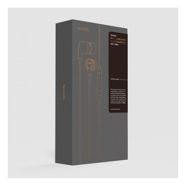 【公式ストア】NUARL NE110 リモコンマイク付/ ハイレゾ ステレオイヤホン(ブラック)※延長保証+6ヶ月付|nuarl|05