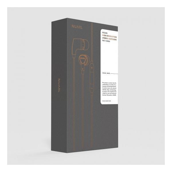 【公式ストア】NUARL NE110 リモコンマイク付/ ハイレゾ ステレオイヤホン(ホワイト)ポーチ付 ※延長保証+6ヶ月付|nuarl|05